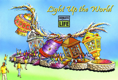 Donate Life Light up the World